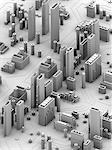 Computer artwork of a conceptual circuit cityscape made of electronic components. Stock Photo - Premium Royalty-Free, Artist: Bill Frymire, Code: 679-06674328