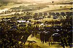 Aerial view of a hot air balloon over golf course and housing estate in wine country near Pokolbin, Hunter Valley, New South Wales, Australia Stock Photo - Premium Rights-Managed, Artist: R. Ian Lloyd, Code: 700-06675101