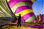 Deflating a hot air balloon near Pokolbin, Hunter Valley, New South Wales, Australia Stock Photo - Premium Rights-Managed, Artist: R. Ian Lloyd, Code: 700-06675121