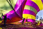 Deflating a hot air balloon near Pokolbin, Hunter Valley, New South Wales, Australia Stock Photo - Premium Rights-Managed, Artist: R. Ian Lloyd, Code: 700-06675122