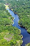 Brazil, Amazon, Aerial view of an igapo, black water creek, in the Amazon forest near Manaus Stock Photo - Premium Rights-Managed, Artist: AWL Images, Code: 862-06675832