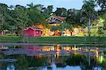 South America, Brazil, Mato Grosso, Sao Jose do Rio Claro, the lake, main buildings at the Jardim da Amazonia jungle lodge and pousada in the Brazilian Amazon Stock Photo - Premium Rights-Managed, Artist: AWL Images, Code: 862-06675871