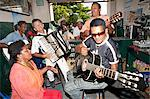 South America, Brazil, Goias, Cidade de Goias, a band playing traditional sertanejo music in the old Mercado Municipal Stock Photo - Premium Rights-Managed, Artist: AWL Images, Code: 862-06676003