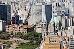 South America, Brazil, Sao Paulo; view of the Palace of Justice, the Metropolitan Cathedral of Sao Paulo and square with the Liberdade neighbourhood behind, as seen from the top of the Banespa Tower Stock Photo - Premium Rights-Managed, Artist: AWL Images, Code: 862-06676069