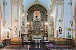 South America, Brazil, Sao Paulo; interior of the church of the Third Order of the Penitence of St. Francis, one of the few Portuguese colonial churches remaining in Sao Paulo Stock Photo - Premium Rights-Managed, Artist: AWL Images, Code: 862-06676114