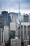 South America, Brazil, Sao Paulo, view along Alameda Santos showing the back of skyscrapers running along Avenida Paulista Stock Photo - Premium Rights-Managed, Artist: AWL Images, Code: 862-06676120