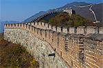 The Mutianyu section of the Great Wall of China looking towards Tower 15 from Tower 14, Jiojiehe, Beijing, China. Stock Photo - Premium Rights-Managed, Artist: AWL Images, Code: 862-06676156