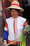 China, Yunnan, Xingmeng. A  Mongolian lady in the small village of Xingmeng, west of Tonghai, where some 4000 Mongolian descendants of members of Kublai Khan s expeditionary force still reside. Stock Photo - Premium Rights-Managed, Artist: AWL Images, Code: 862-06676240