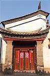 China, Yunnan, Tonghai.  Door of a traditional house in Tonghai. Stock Photo - Premium Rights-Managed, Artist: AWL Images, Code: 862-06676243