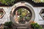 China, Yunnan, Tonghai. Moon gate at the Taoist temple gardens in Xiushan Mountain Park in Tonghai. Stock Photo - Premium Rights-Managed, Artist: AWL Images, Code: 862-06676249