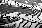 China, Yunnan, Yuanyang. Pattern of rice terraces at Bada, Yuanyang. Stock Photo - Premium Rights-Managed, Artist: AWL Images, Code: 862-06676295