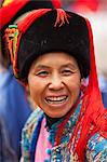 China, Yunnan, Luchun. A lady of the Hani ethnic minority in Luchun. Stock Photo - Premium Rights-Managed, Artist: AWL Images, Code: 862-06676306
