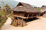 China, Yunnan, Jinghong. A traditional house in a Dai village near Jinghong, with living space on the top, and storage space below. Stock Photo - Premium Rights-Managed, Artist: AWL Images, Code: 862-06676312