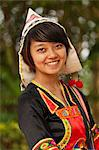 China, Yunnan, Xishuangbanna. A pretty girl of the Jinuo ethnic minority near Jinghong. Stock Photo - Premium Rights-Managed, Artist: AWL Images, Code: 862-06676320