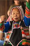 China, Yunnan, Xishuangbanna. An elderly lady of the Jinuo ethnic minority near Jinghong. Stock Photo - Premium Rights-Managed, Artist: AWL Images, Code: 862-06676326