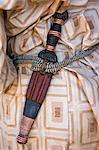 Chad, Barakatra, Ennedi, Sahara. A typical Tubu knife with an attractive leather scabbard and handle decorated with copper wire. Stock Photo - Premium Rights-Managed, Artist: AWL Images, Code: 862-06676495