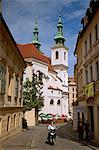 Brno, Moravia, Czech Republic. Motorist passing through the historical centre Stock Photo - Premium Rights-Managed, Artist: AWL Images, Code: 862-06676615