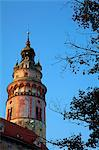 Central and Eastern Europe, Czech Republic, South Bohemia, Cesky Krumlov. Detail of the Tower of the Castle. Stock Photo - Premium Rights-Managed, Artist: AWL Images, Code: 862-06676633