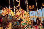 UK, Wiltshire. Beautiful, ornate, traditional pony carousel at an English steamfair. Stock Photo - Premium Rights-Managed, Artist: AWL Images, Code: 862-06676687
