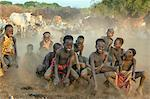 Exuberant Dassanech boys have fun playing a game that imitates the jumping movement of grasshoppers and frogs, Ethiopia Stock Photo - Premium Rights-Managed, Artist: AWL Images, Code: 862-06676720
