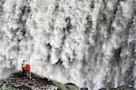 Tourists view Dettifoss waterfall in Northern Iceland. Stock Photo - Premium Rights-Managed, Artist: AWL Images, Code: 862-06676804
