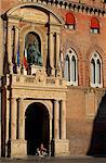 Italy, Emilia Romagna, Bologna; Cycling in front of the town hall Stock Photo - Premium Rights-Managed, Artist: AWL Images, Code: 862-06677049