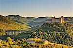 Italy, Umbria, Perugia district, Spoleto, Rocca Albornoz and Ponte delle Torri Stock Photo - Premium Rights-Managed, Artist: AWL Images, Code: 862-06677140