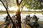 Africa, Namibia, Okavango river, Visitors enjoying breakfast at the Mahangu Safari lodge Stock Photo - Premium Rights-Managed, Artist: AWL Images, Code: 862-06677185