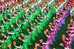 Democratic Peoples Republic of Korea, North Korea, Pyongyang. Performers at the Arirang Mass Games. Stock Photo - Premium Rights-Managed, Artist: AWL Images, Code: 862-06677203