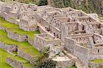 South America, Peru, Cusco, Machu Picchu. A general view of terraces and buildings at the World Heritage listed Inka Historic Sanctuary of Machu Picchu, situated in the Andes above the Urubamba valley Stock Photo - Premium Rights-Managed, Artist: AWL Images, Code: 862-06677254