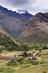 South America, Peru, Ancash, Yungay, Huascaran national park. A village on the the Santa Cruz trail in Huascaran National Park. Stock Photo - Premium Rights-Managed, Artist: AWL Images, Code: 862-06677293