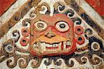 South America, Peru, La Libertad, Trujillo, detail of a mural on the Moche Temple of the Moon showing the decapitator god Ai Apaec Stock Photo - Premium Rights-Managed, Artist: AWL Images, Code: 862-06677314