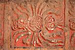 South America, Peru, La Libertad, Trujillo, detail of a mural on the Moche Temple of the Moon showing a spider figure Stock Photo - Premium Rights-Managed, Artist: AWL Images, Code: 862-06677317