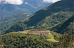 South America, Peru, Cusco, Huancacalle. The Inca ceremonial and sacred site of Vitcos, thought to have been built by Manco Inca or Pachacuti and lying on the trail to Choquequirao near the village of Huancacalle Stock Photo - Premium Rights-Managed, Artist: AWL Images, Code: 862-06677380