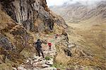 South America, Peru, Cusco. Hikers on an Inca road on the trail to Choquequirao Stock Photo - Premium Rights-Managed, Artist: AWL Images, Code: 862-06677389