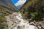 South America, Peru, Cusco, Yanama. Tha Yanama river in the Choquequirao Regional Conservation Area, Area de Conservacion Regional Choquequirao, in the high Andes Stock Photo - Premium Rights-Managed, Artist: AWL Images, Code: 862-06677395