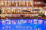 South America, Peru, Cusco, the swimming pool at the in the Orient Express Palacio Nazarenas hotel, housed in a former Spanish convent, PR, Stock Photo - Premium Rights-Managed, Artist: AWL Images, Code: 862-06677440