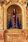 South America, Peru, Cusco, a statue of the Virgin Mary from the Cusquena school, situated in the chapel of San Antonio Abad in the Orient Express Monasterio hotel, which is housed in a former Spanish convent, PR, Stock Photo - Premium Rights-Managed, Artist: AWL Images, Code: 862-06677449