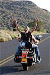 Riding Motor bike, Flagstaff, Arizona, USA Stock Photo - Premium Rights-Managed, Artist: AWL Images, Code: 862-06677518