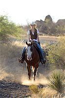 Cowgirl riding, Apache Spirit Ranch, Tombstone, Arizona, USA Stock Photo - Premium Rights-Managednull, Code: 862-06677537