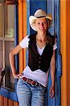 Cowgirl, Apache Spirit Ranch, Tombstone, Arizona, USA Stock Photo - Premium Rights-Managed, Artist: AWL Images, Code: 862-06677545