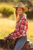 Tourist girl from Switzerland at Wilson Ranch, Guest Ranch and B&B, Fossil, Oregon, USA Stock Photo - Premium Rights-Managednull, Code: 862-06677559