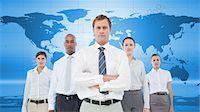 Serious business team Stock Photo - Premium Royalty-Freenull, Code: 6109-06684737