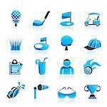 golf and sport icons - vector icon set Stock Photo - Royalty-Free, Artist: stoyanh                       , Code: 400-06686690