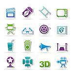 Cinema and Movie icons- vector icon set Stock Photo - Royalty-Free, Artist: stoyanh                       , Code: 400-06686698