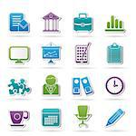 Business and office icons - vector icon set Stock Photo - Royalty-Free, Artist: stoyanh                       , Code: 400-06686707