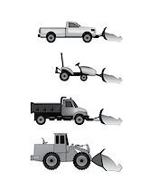 snow plow truck - snow plow icons Stock Photo - Royalty-Freenull, Code: 400-06687421