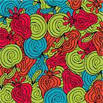 Bright abstract fruits pattern.Can be used for wallpaper, pattern fills, web page, surface textures. Endless skin for gadgets desktop. Modern psychedelic design