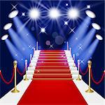 Red carpet with spotlight. Mesh.This file contains transparency.EPS10. Clipping Mask. Stock Photo - Royalty-Free, Artist: Lep                           , Code: 400-06691812