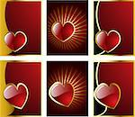 vector valentine's hearts set eps 8 Stock Photo - Royalty-Free, Artist: sdmix                         , Code: 400-06692056
